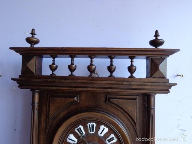 Relojes de pared: MUY ANTIGUO (SOBRE 1880) E IMPORTANTE RELOJ A CUERDAS SONERIA DE HORAS Y MEDIAS, FUNCIONANDO - Foto 6 - 56498447