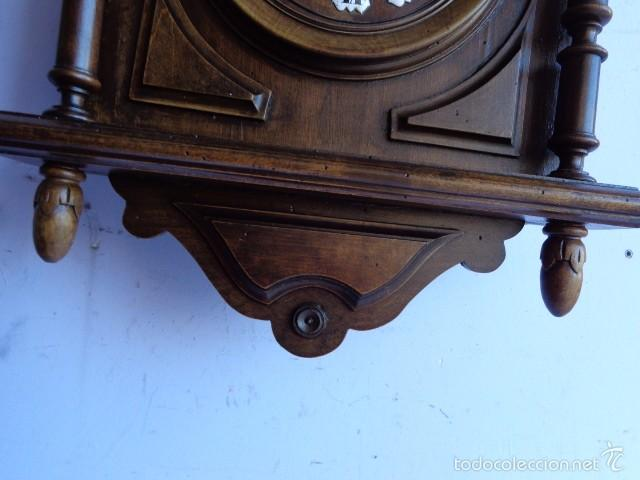 Relojes de pared: MUY ANTIGUO (SOBRE 1880) E IMPORTANTE RELOJ A CUERDAS SONERIA DE HORAS Y MEDIAS, FUNCIONANDO - Foto 7 - 56498447