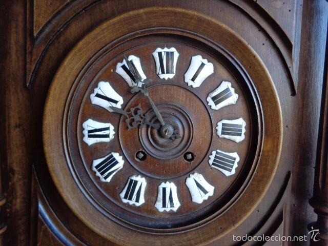 Relojes de pared: MUY ANTIGUO (SOBRE 1880) E IMPORTANTE RELOJ A CUERDAS SONERIA DE HORAS Y MEDIAS, FUNCIONANDO - Foto 8 - 56498447