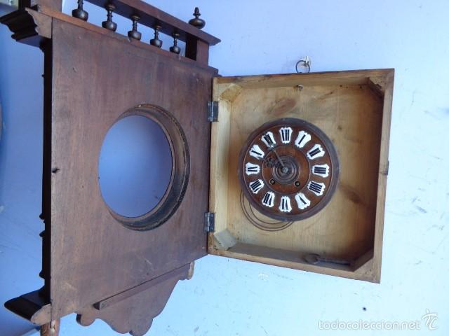 Relojes de pared: MUY ANTIGUO (SOBRE 1880) E IMPORTANTE RELOJ A CUERDAS SONERIA DE HORAS Y MEDIAS, FUNCIONANDO - Foto 9 - 56498447