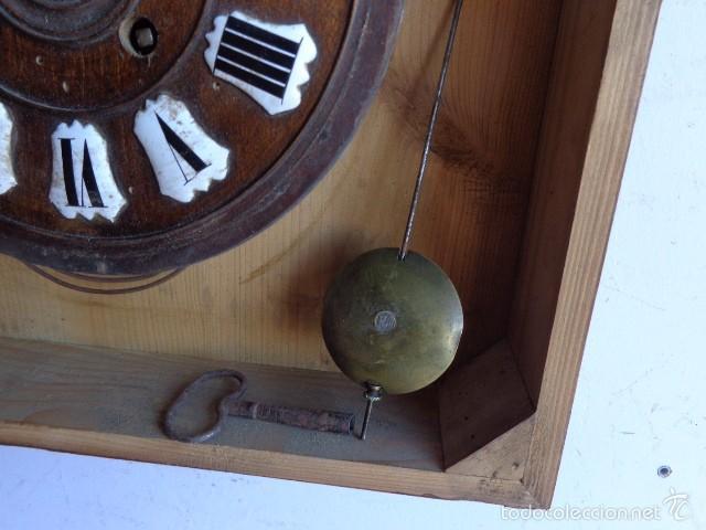 Relojes de pared: MUY ANTIGUO (SOBRE 1880) E IMPORTANTE RELOJ A CUERDAS SONERIA DE HORAS Y MEDIAS, FUNCIONANDO - Foto 11 - 56498447