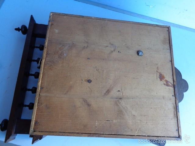 Relojes de pared: MUY ANTIGUO (SOBRE 1880) E IMPORTANTE RELOJ A CUERDAS SONERIA DE HORAS Y MEDIAS, FUNCIONANDO - Foto 13 - 56498447