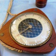 Relojes de pared: VIEJO RELOJ DE PARED. AÑOS 80. ORIGEN ALEMÁN. DE CUERDA. FUNCIONA:. Lote 56658822