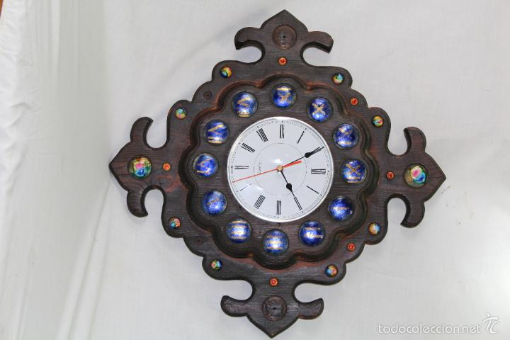 Relojes de pared: reloj de pared quartz en madera - Foto 2 - 57243430