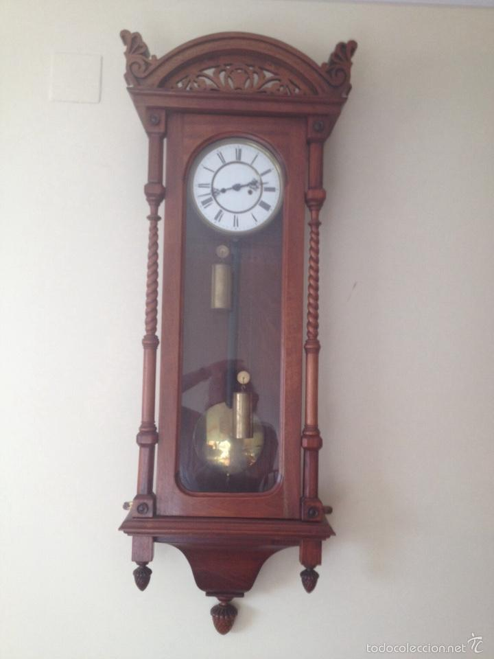 RELOJ DE PARED ALEMAN REGULATOR. FINALES 1800 (Relojes - Pared Carga Manual)