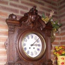Relojes de pared: ¡¡GRAN OJO BUEY EN TALLA DE MADERA EN FORMA DE ESCUDO!!!- AÑO 1880- EN ROBLE. Lote 57871566
