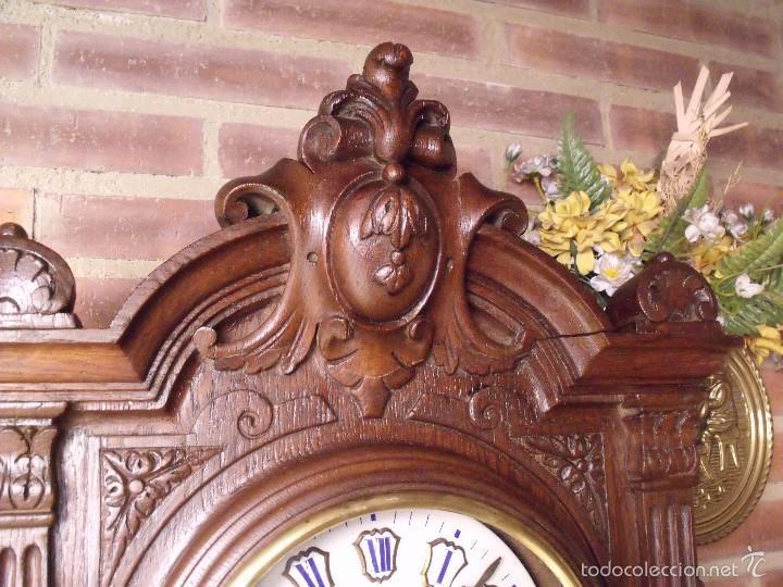 Relojes de pared: ¡¡GRAN OJO BUEY EN TALLA DE MADERA en forma de escudo!!!- año 1880- en roble - Foto 3 - 57871566