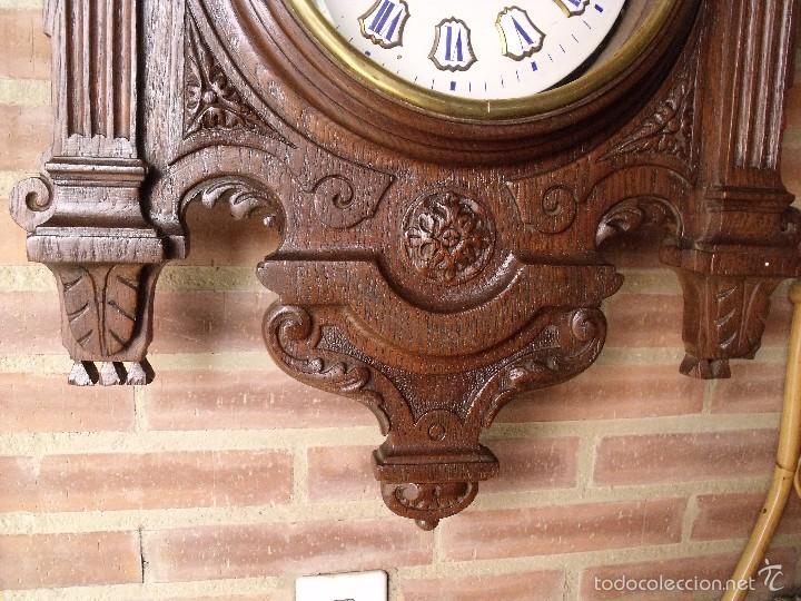 Relojes de pared: ¡¡GRAN OJO BUEY EN TALLA DE MADERA en forma de escudo!!!- año 1880- en roble - Foto 5 - 57871566