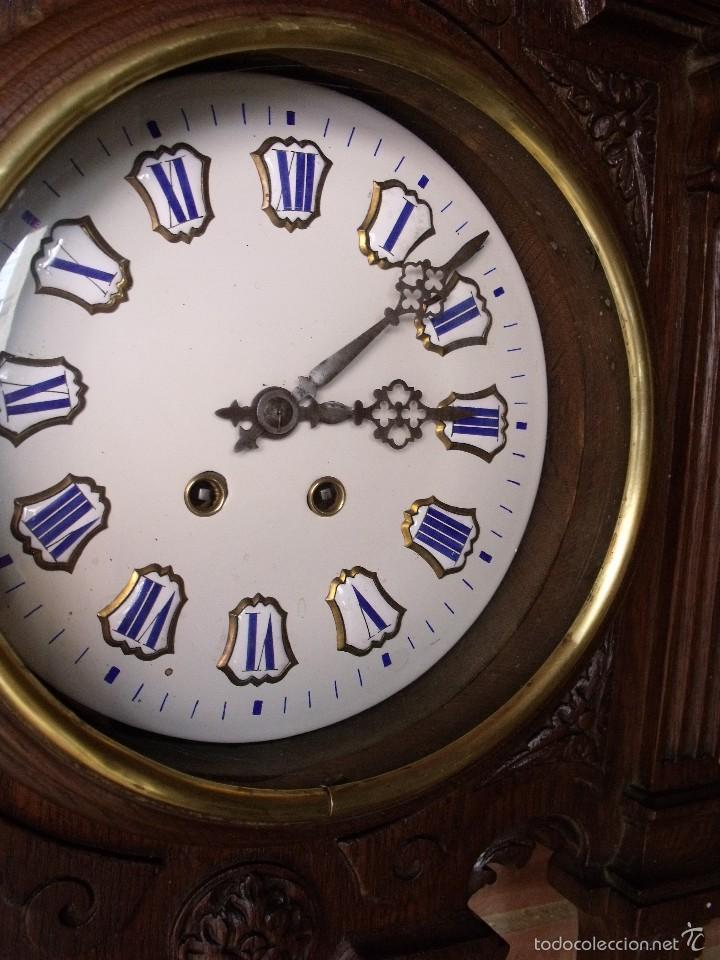 Relojes de pared: ¡¡GRAN OJO BUEY EN TALLA DE MADERA en forma de escudo!!!- año 1880- en roble - Foto 7 - 57871566