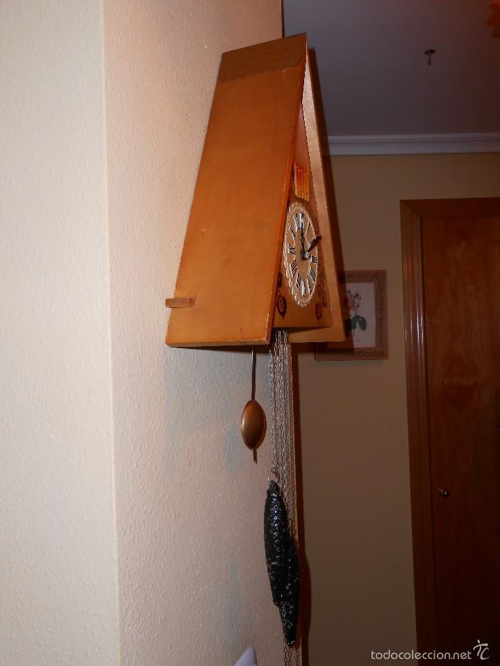 Relojes de pared: GRANDE,RARO E IMPRESIONANTE RELOJ CUCU DE MADERA,HECHO EN LA ANTIGUA UNIÓN SOVIÉTICA(CCCP). - Foto 2 - 58266821
