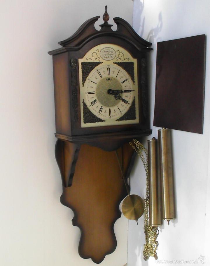 RELOJ DE PARED TEMPUS FUGIT FUNCIONANDO (Relojes - Pared Carga Manual)