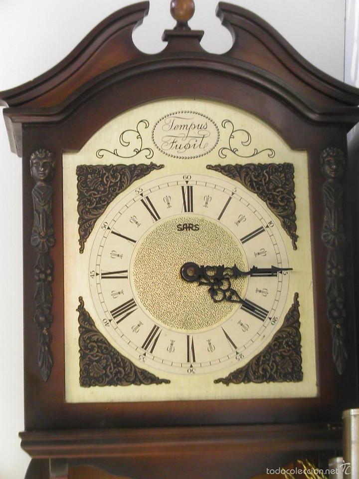 Relojes de pared: RELOJ DE PARED TEMPUS FUGIT FUNCIONANDO - Foto 2 - 58278225