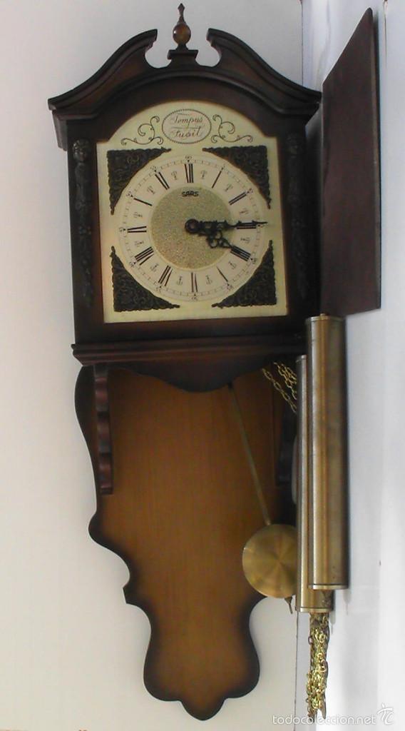 Relojes de pared: RELOJ DE PARED TEMPUS FUGIT FUNCIONANDO - Foto 5 - 58278225