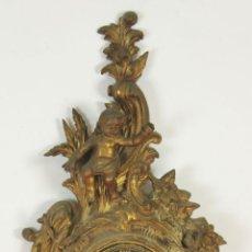 Relojes de pared: RELOJ DE PARED EN METAL DORADO. LUIS XV. ESPAÑA. AÑOS 30/40.. Lote 58793581