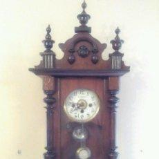 Relojes de pared: RARO Y MAGNIFICO ANTIGUO RELOJ PARED C,COPPEL CON DESPERTADOR , RELOJ FUNCIONANDO MEDIAS Y. Lote 58834341