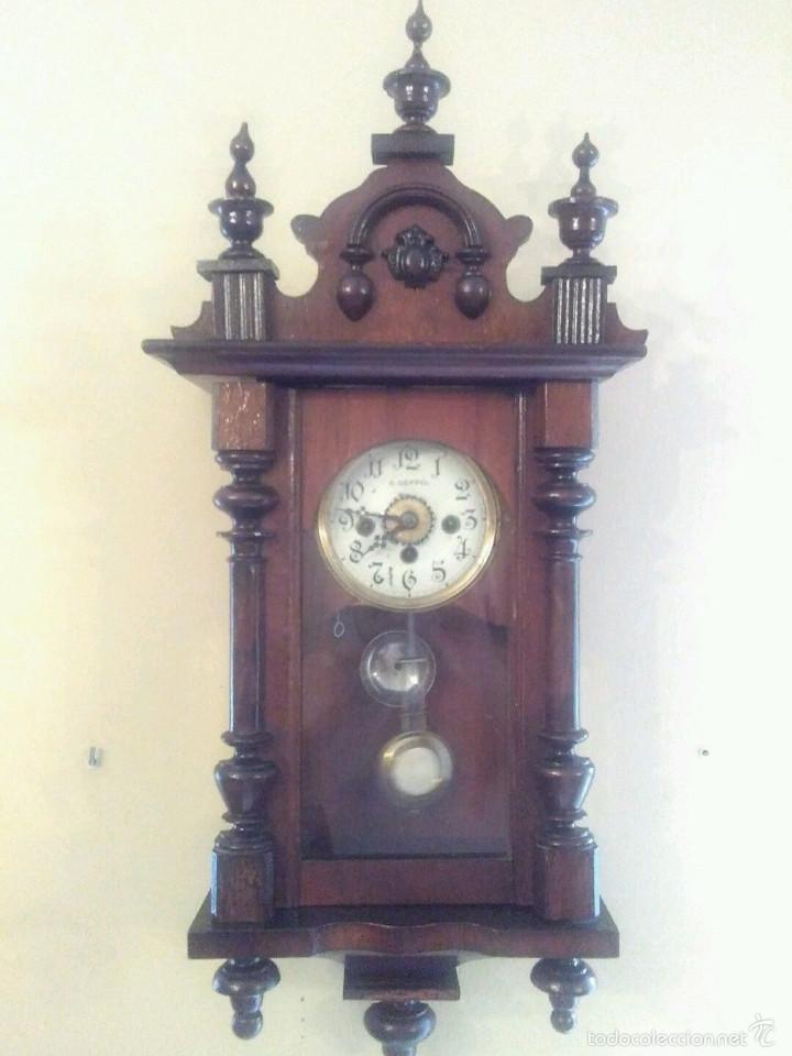 Relojes de pared: RARO Y MAGNIFICO ANTIGUO RELOJ PARED C,COPPEL CON DESPERTADOR , RELOJ FUNCIONANDO MEDIAS Y - Foto 6 - 58834341