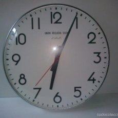 Relojes de pared: RELOJ MAX DE LA UNION RELOJERA SUIZA. RELOJ DE IMPULSOS. MAQUINARIA WESTERSTRANDS (5 DISPONIBLES). Lote 169181774