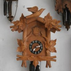 Relojes de pared: RELOJ ANTIGUO DE PARED ALEMÁN CUCO CON PESAS Y PÉNDULO FUNCIONA CANTA CUCU Y DA CAMPANADAS AÑO 1840. Lote 60382575