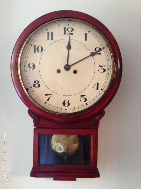 RELOJ DIPLOMATICO. MAQUINARIA GUSTAV BECKER. (Relojes - Pared Carga Manual)