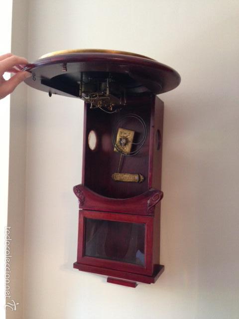 Relojes de pared: RELOJ DIPLOMATICO. MAQUINARIA GUSTAV BECKER. - Foto 2 - 60696675