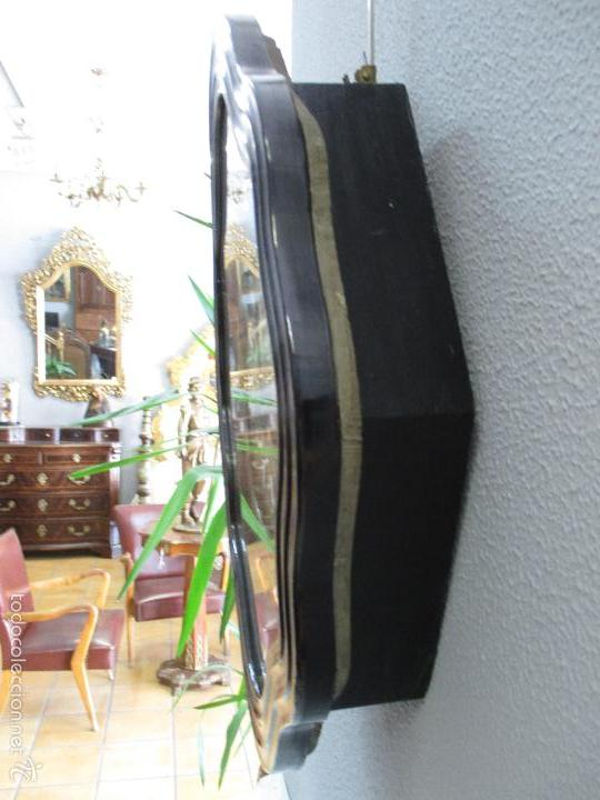 Relojes de pared: Reloj de Pared - Isabelino - Marquetería en Nácar - Esfera de Alabastro - Maquina París - Funciona - Foto 9 - 60943755