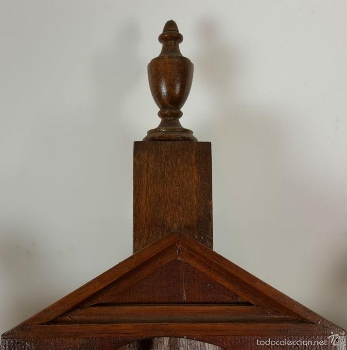 Relojes de pared: RELOJ DE PARED EN MADERA. MAQUINARIA PHILIP HASS SOHN. ALEMANIA. SIGLO XIX-XX. - Foto 2 - 139578352