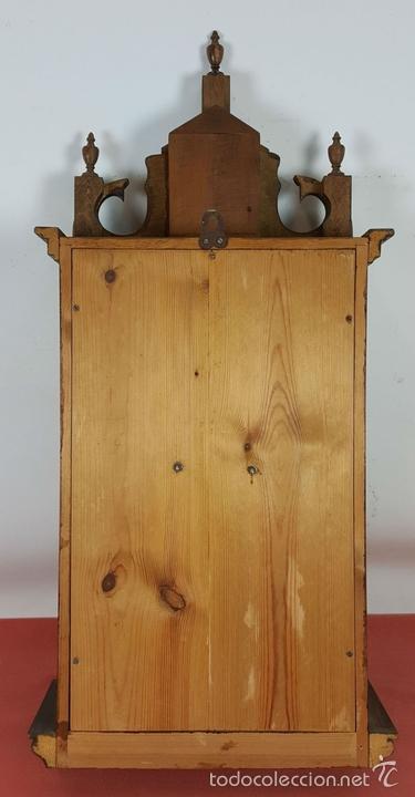 Relojes de pared: RELOJ DE PARED EN MADERA. MAQUINARIA PHILIP HASS SOHN. ALEMANIA. SIGLO XIX-XX. - Foto 7 - 139578352