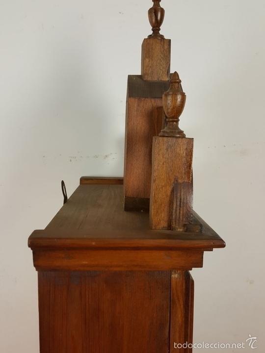 Relojes de pared: RELOJ DE PARED EN MADERA. MAQUINARIA PHILIP HASS SOHN. ALEMANIA. SIGLO XIX-XX. - Foto 9 - 139578352