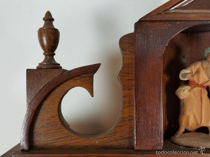 Relojes de pared: RELOJ DE PARED EN MADERA. MAQUINARIA PHILIP HASS SOHN. ALEMANIA. SIGLO XIX-XX. - Foto 10 - 139578352