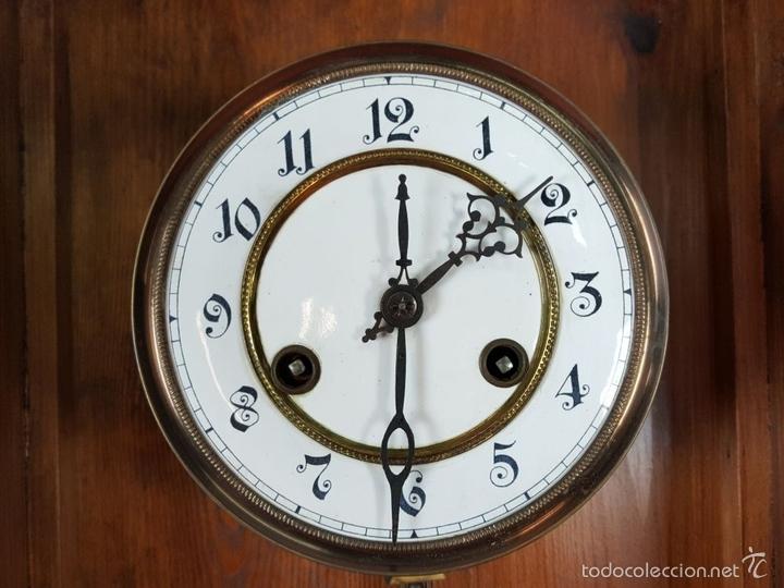 Relojes de pared: RELOJ DE PARED EN MADERA. MAQUINARIA PHILIP HASS SOHN. ALEMANIA. SIGLO XIX-XX. - Foto 11 - 139578352