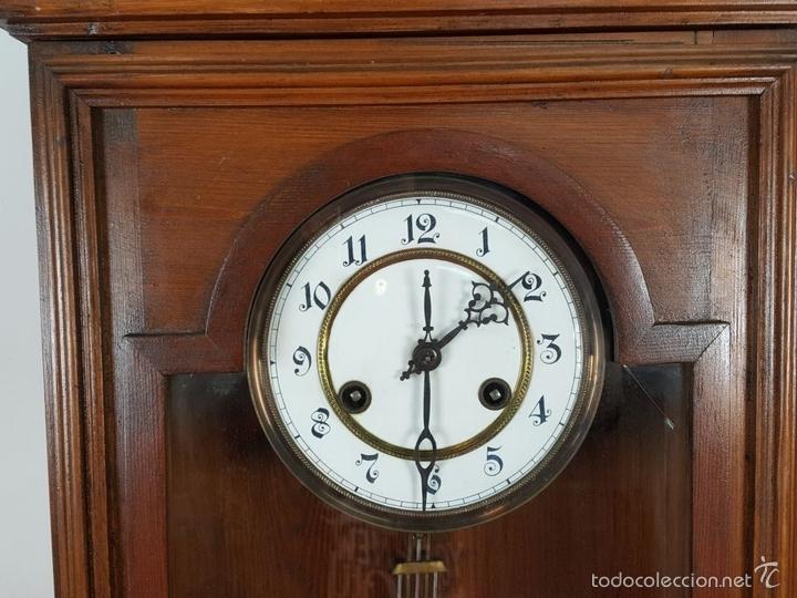 Relojes de pared: RELOJ DE PARED EN MADERA. MAQUINARIA PHILIP HASS SOHN. ALEMANIA. SIGLO XIX-XX. - Foto 12 - 139578352