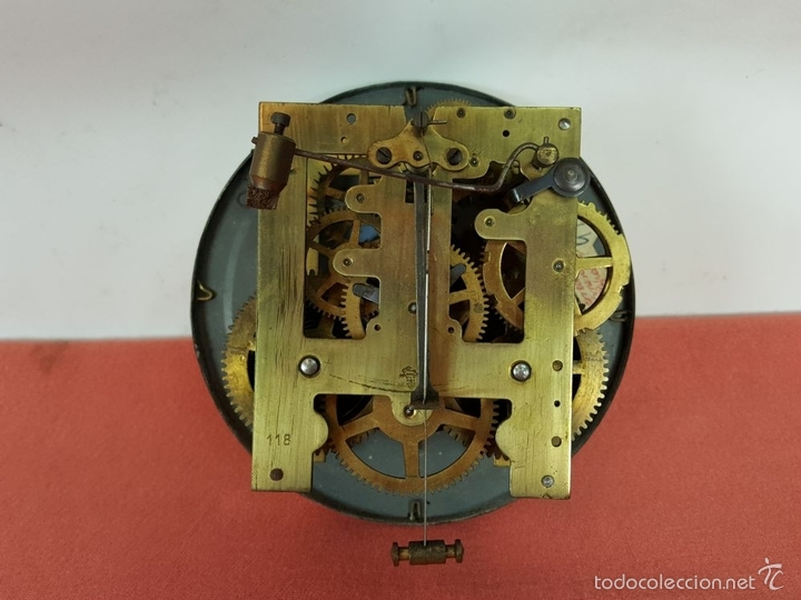 Relojes de pared: RELOJ DE PARED EN MADERA. MAQUINARIA PHILIP HASS SOHN. ALEMANIA. SIGLO XIX-XX. - Foto 15 - 139578352