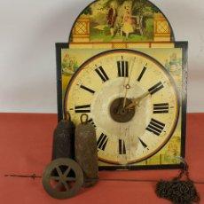 Relojes de pared: RELOJ DE PARED O RATERA. MADERA POLICROMADA. OSWALD MAURER. ALEMANIA. SIGLO XIX.. Lote 60995091