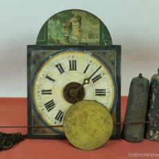 Relojes de pared: RELOJ DE PARED O RATERA EN MINIATURA. FRONTAL POLICROMADO. ALEMANIA. SIGLO XIX. Lote 61067891