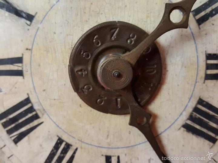 Relojes de pared: RELOJ DE PARED O RATERA EN MINIATURA. FRONTAL POLICROMADO. ALEMANIA. SIGLO XIX - Foto 9 - 61067891