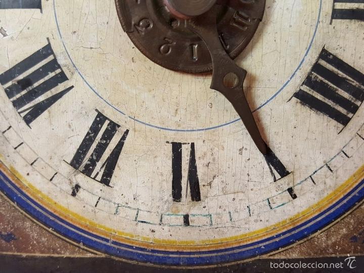 Relojes de pared: RELOJ DE PARED O RATERA EN MINIATURA. FRONTAL POLICROMADO. ALEMANIA. SIGLO XIX - Foto 11 - 61067891