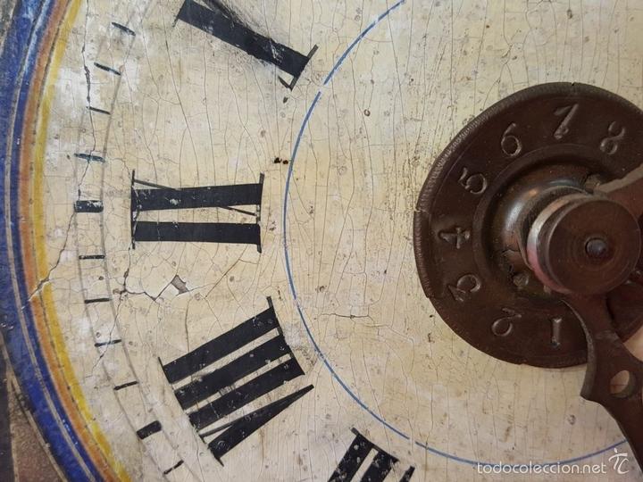 Relojes de pared: RELOJ DE PARED O RATERA EN MINIATURA. FRONTAL POLICROMADO. ALEMANIA. SIGLO XIX - Foto 13 - 61067891