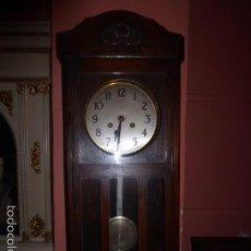 Relojes de pared: RELOJ DE PARED DE MADERA DE ROBLE . Lote 104578692
