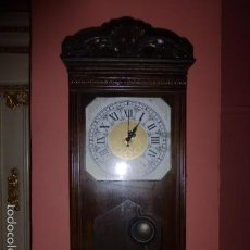 Relojes de pared: RELOJ DE PARED CON CAJA DE MADERA. Lote 61125091