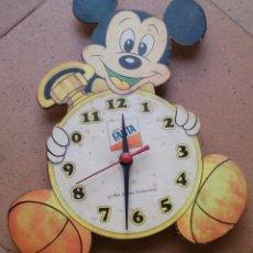 Relojes de pared: RELOJ PROMOCIONAL PUNTOS FANTA MICKEY MOUSE, VINTAGE. Lote 61423943