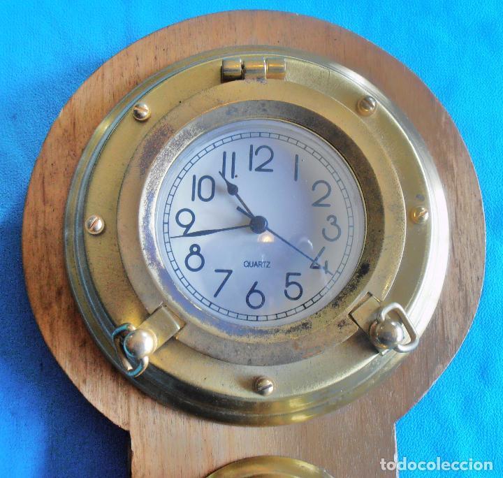 Relojes de pared: RELOJ, HYGROMETRO, HIGROMETRO, FAHRENHEIT CELSIUS, CON TRES OJOS DE BUEY - Foto 2 - 61710956