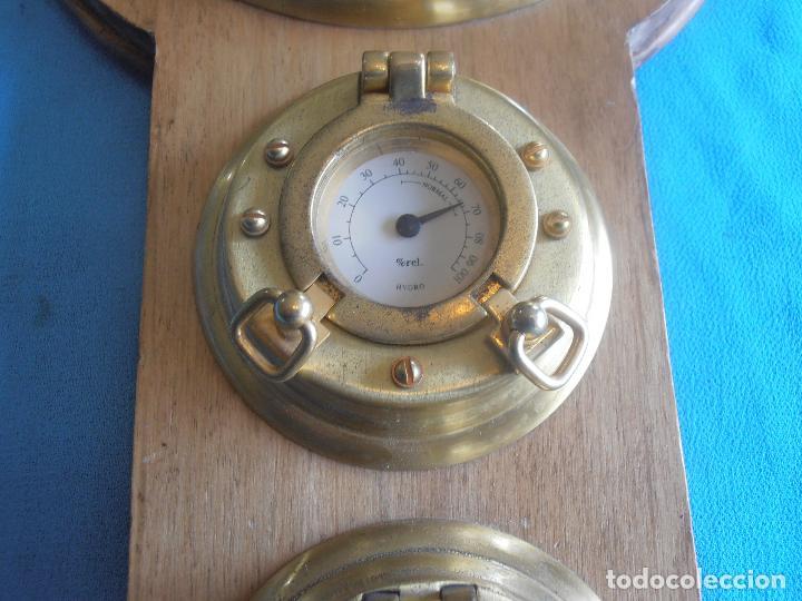 Relojes de pared: RELOJ, HYGROMETRO, HIGROMETRO, FAHRENHEIT CELSIUS, CON TRES OJOS DE BUEY - Foto 3 - 61710956