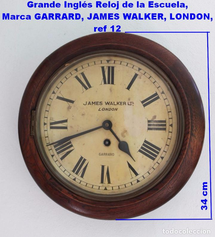 Grande ingl s reloj de la escuela marca garrar comprar - Relojes grandes pared ...