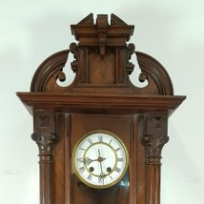 Relojes de pared: RELOJ DE PARED. MUEBLE EN MADERA DE NOGAL. CARL WERNER. ALEMANIA. SIGLO XIX. . Lote 62578452