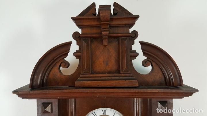 Relojes de pared: RELOJ DE PARED. MUEBLE EN MADERA DE NOGAL. CARL WERNER. ALEMANIA. SIGLO XIX. - Foto 6 - 62578452