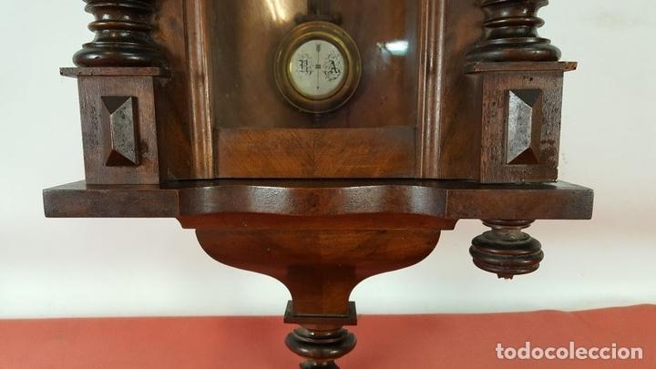 Relojes de pared: RELOJ DE PARED. MUEBLE EN MADERA DE NOGAL. CARL WERNER. ALEMANIA. SIGLO XIX. - Foto 10 - 62578452