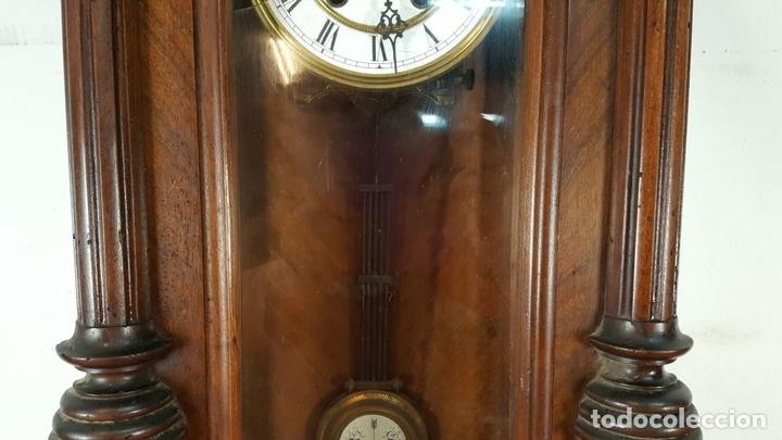 Relojes de pared: RELOJ DE PARED. MUEBLE EN MADERA DE NOGAL. CARL WERNER. ALEMANIA. SIGLO XIX. - Foto 12 - 62578452