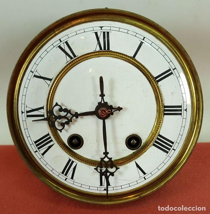 Relojes de pared: RELOJ DE PARED. MUEBLE EN MADERA DE NOGAL. CARL WERNER. ALEMANIA. SIGLO XIX. - Foto 13 - 62578452