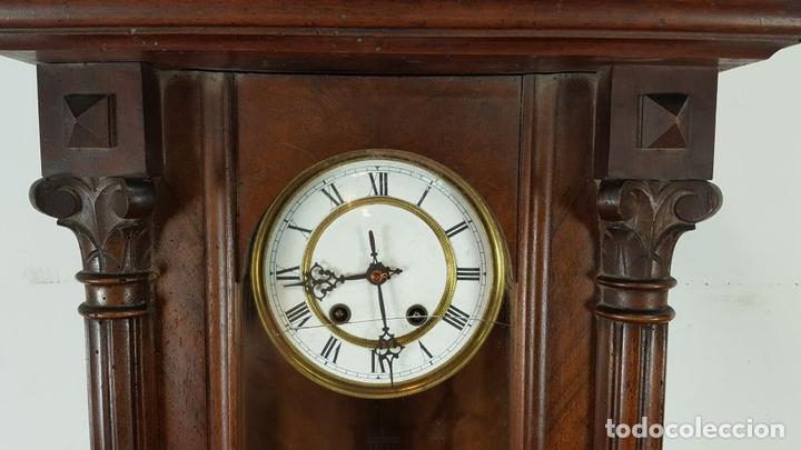 Relojes de pared: RELOJ DE PARED. MUEBLE EN MADERA DE NOGAL. CARL WERNER. ALEMANIA. SIGLO XIX. - Foto 15 - 62578452