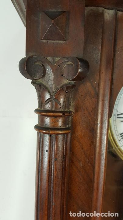 Relojes de pared: RELOJ DE PARED. MUEBLE EN MADERA DE NOGAL. CARL WERNER. ALEMANIA. SIGLO XIX. - Foto 17 - 62578452